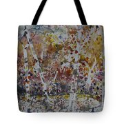 Birch Trees In Fall Tote Bag