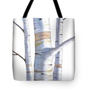 Birch Trees In Three Tote Bag