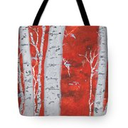 Birch Woods Tote Bag