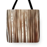 Birches In Motion Tote Bag