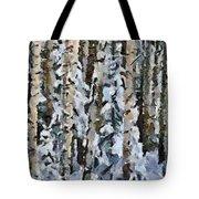 Birches In The Winter Tote Bag
