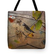 Bird And Berries Tote Bag