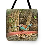 Bird And Feeder Tote Bag