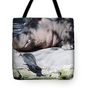 Bird And Hippo Tote Bag