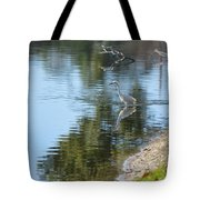 Bird And Pond Tote Bag