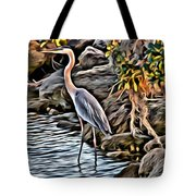 Bird By The Water Tote Bag