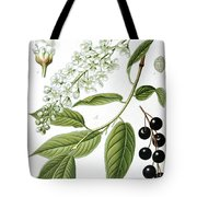 Bird Cherry Cerasus Padus Or Prunus Padus Tote Bag