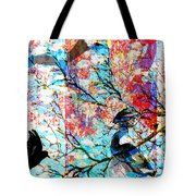 Bird Collage Tote Bag
