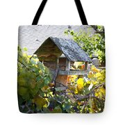 Bird Feeder Amongest The Grapevines Tote Bag