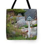 Bird House And Chimes Tote Bag