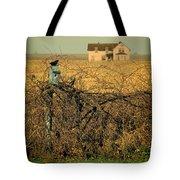 Bird House And Farm Tote Bag