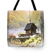 Bird House In Autumn Tote Bag