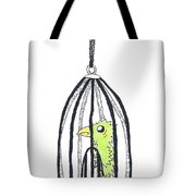 Bird In A Cage 1 Tote Bag