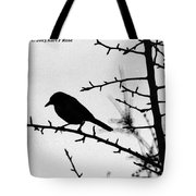 Bird In B And W Tote Bag