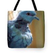 Bird In Blue Dress Tote Bag