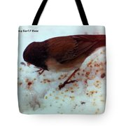Bird In Snow 2 Tote Bag