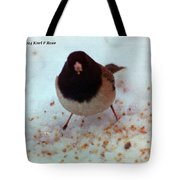 Bird In Snow Tote Bag