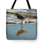 Bird In Surf Reflecting 12/14 Tote Bag