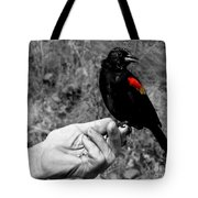 Bird In The Hand.seattle.bw Tote Bag