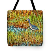 Bird In The Reeds Tote Bag