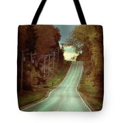 Bird In The Road Tote Bag