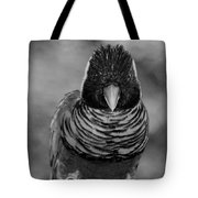 Bird In Your Face Bw Tote Bag