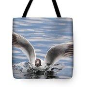 Bird Landing Tote Bag