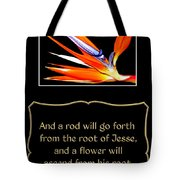 Bird Of Paradise Flower With Bible Quote From Isaiah Tote Bag