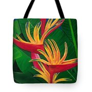 Bird Of Paradise Painting Tote Bag