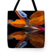 Bird Of Paradise Reflective Pool Tote Bag