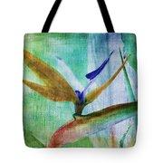 Bird Of Paradise Watercolor Tote Bag
