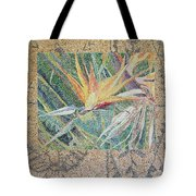 Bird Of Paradise With Tapa Cloth Tote Bag
