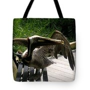 Bird On A Bench Tote Bag