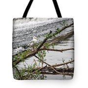 Bird On A Weir Tote Bag
