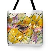 Bird On Chain Tote Bag