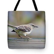 Bird On The Fence Tote Bag