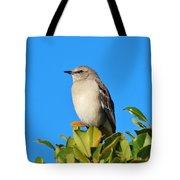 Bird On Tree Top Tote Bag