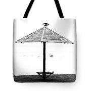 Bird On Umbrella Tote Bag