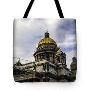 Bird Over St Basil's Cathedral Tote Bag