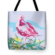 Bird Red Ibis Tote Bag