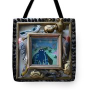 Bird Shadows - Framed Tote Bag