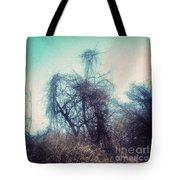 Bird Shaped Tree Tote Bag