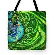 Bird Song Swirl Tote Bag