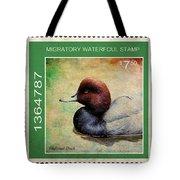 Bird Stamp Tote Bag