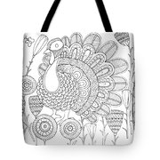 Bird Turkey Bird 1 Tote Bag by MGL Meiklejohn Graphics Licensing