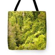 Bird View Of Lush Green Sub-tropical Nz Rainforest Tote Bag