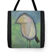 Bird With Found Feather Tote Bag