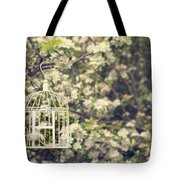 Birdcage In Blossom Tote Bag