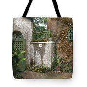 Birdhouse And Gate Tote Bag by Terry Reynoldson