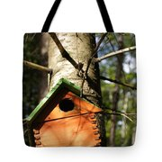 Birdhouse By Line Gagne Tote Bag
